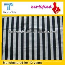 Algodão/elastano listra de tecido estampado