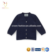 Pure Cashmere Knitted Wool Children Sweater Cardigan