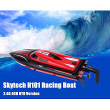 Hot Skytech H101 2.4G Remote Control 180 Degree Flip High Speed Electric 4 Channels Racing RC Boat Speedboat Children toys