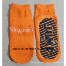 Прыжок носок для клуба батут носки Анти-скольжения Противоскользящие носки этаж