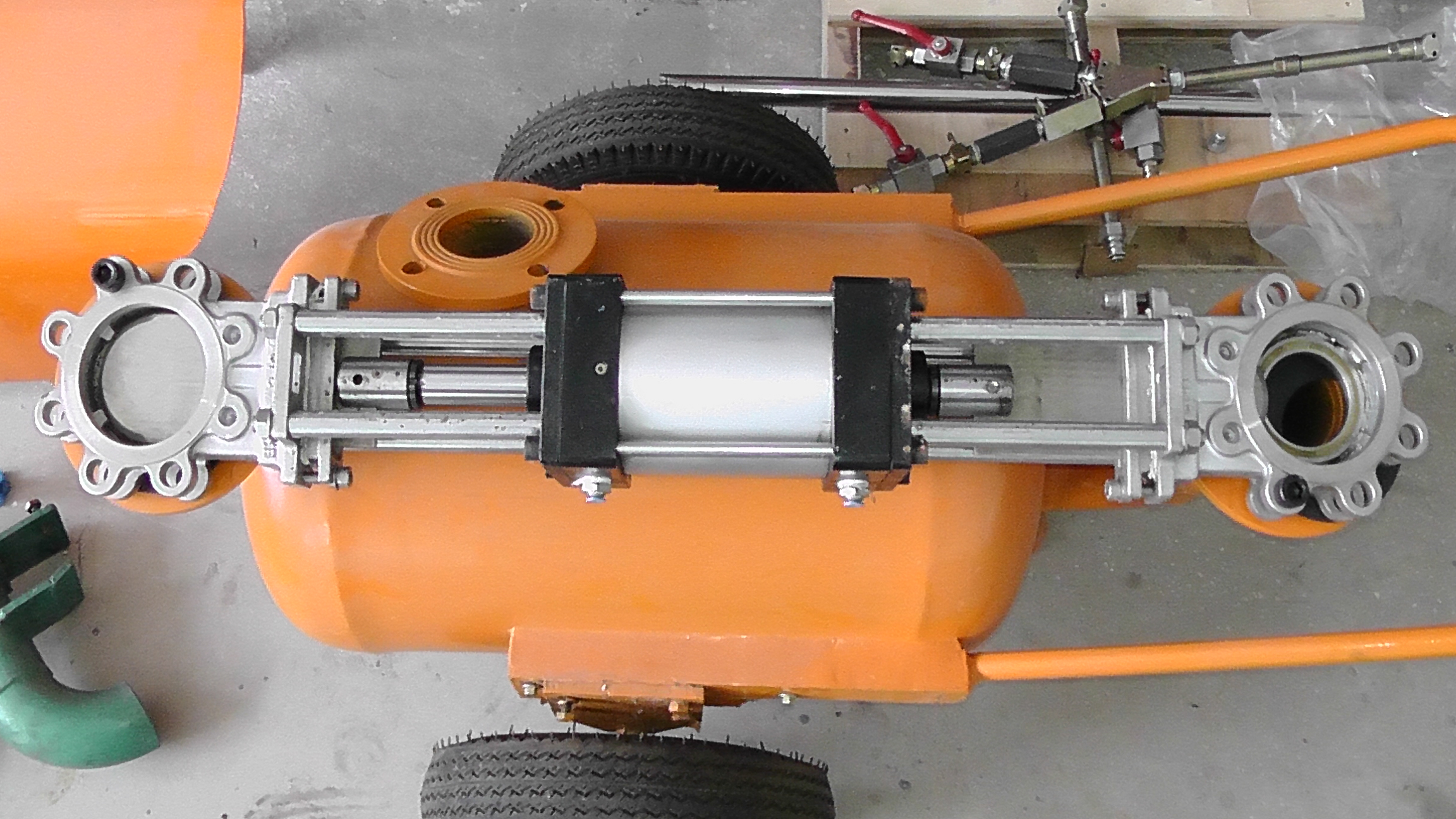 Air Operated Pump Pneumatic Clean Sewage Pump Blow Down Pump