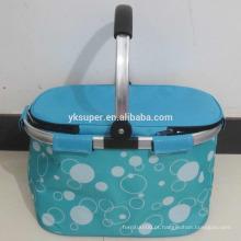 Hot Sale Alumínio Handles Portable Shopping Basket