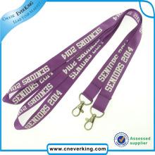 Hochwertige benutzerdefinierte Nylon Lanyard Strap Schlüsselanhänger zum Verkauf