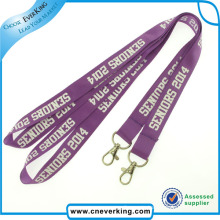 High Quality Custom Nylon Lanyard Strap Key Chain for Sale