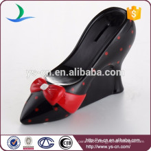 High heel shoe ceramic Money Box For Promotional Gift