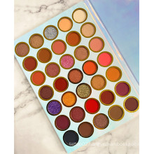 OEM Low MOQ Summer Eyeshadow Book Palette Private Label Glitter EyeShadow Palette Makeup Earth Color Wholesale