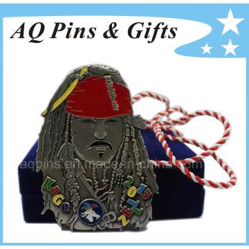 Médaille des Pirates des Caraïbes avec longe