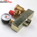 GutenTop High Quality Floor heating brass Safety valve Three piece set boiler safety component