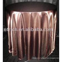 Satin tablecloth,banquet/hotel/wedding table cover,table linen