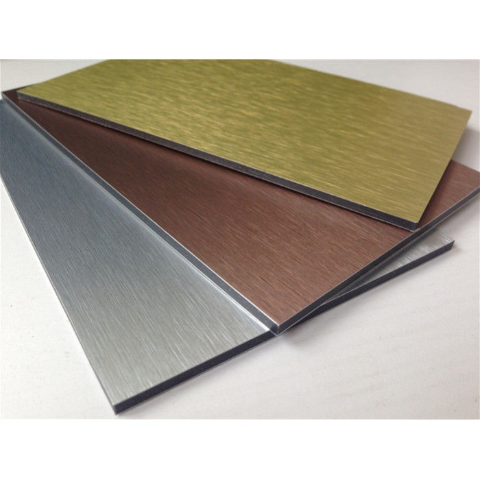 China brushed aluminum composite panel high quality for Aluminium composite panel interior decoration