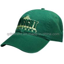 Moda lavado algodón sarga bordado Golf Baseball Cap (TMB6274)