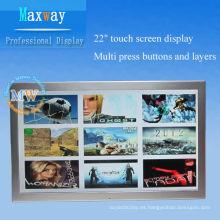 diseño personalizado 21.5 pulgadas lcd toque reproductor de publicidad