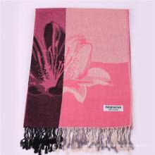 Lenço cor-de-rosa feminino Inverno Pashmina quente 170 * 68cm