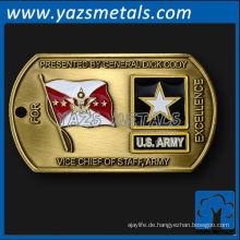 fertigen Metall-Militär-Tags, mit Logo-Design