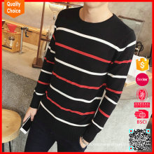 Hot selling customized pullover fabric sweater for man