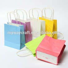 Papel reciclável saco de papel presente saco de papel pequeno saco de papel para lembrança