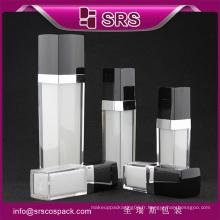 Bouteille de cosmétiques acrylique L050 en forme carrée, bouteille de parfum vaporisateur