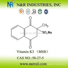Proveedor fiable Vitamina K3 96% MSB 58-27-5 Grado de alimentación