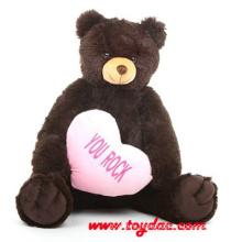 Плюша бурый Медведь с сердцем