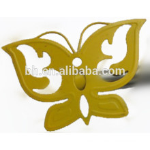 Yellow Spray Paint Curtain Finial Decorative Butterfly Curtain Rod