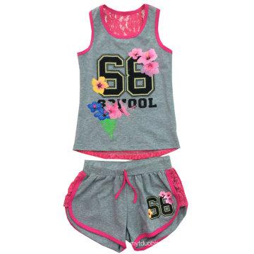 Crianças Impresso Roupas, Baby Girl Suit para o Verão SGS-102