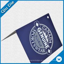 Folded Hang Tag com carimbo quente para roupas esportivas