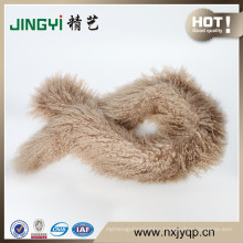 Wholesale New Fashion Long Hair Mongolian Sheep Fur Scarf