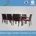 8chairs Brown Restaurant Dinning Sets