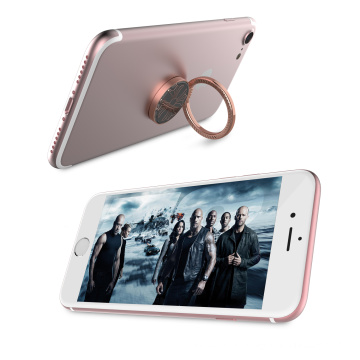 Anneau de doigt de téléphone portable 360 degrés de rotation de l'anneau de téléphone cellulaire