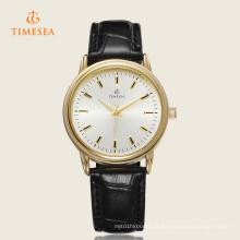 Marca Mens Dress Watch Ouro Clássico Relógio De Pulso De Quartzo De Couro 72251