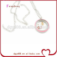 Ladies fashion jewelry stainless charm pendant enamel pendant