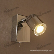 classical switch pure Aluminum-Alloy adjustable and dimmable home motor led wall light