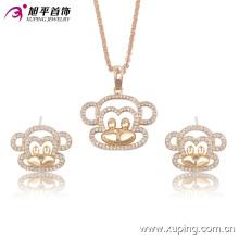 63561 mode großhandel china zarte schöne ohrring und halskette vergoldet kinder schmuck-set