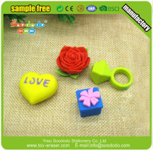 TPR Material 3d ring shape mini eraser
