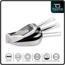 Stainless steel flat bottom ice scoop