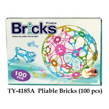 Brinquedo de tijolos flexíveis