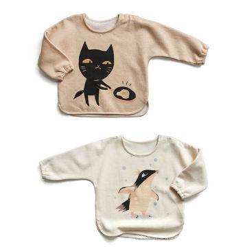 Les vêtements chauds de bébé de vente d'usine de top, pull de bébé avec du coton organique