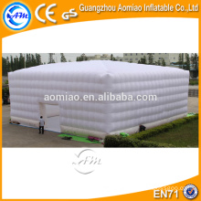 White big inflatable event tent cube marquee party tent for sales
