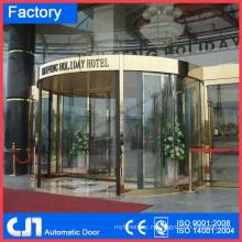 Здание отеля 2 Крылья автоматические стеклянные вращающиеся двери
