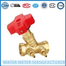 Medidores de agua Válvulas de balance de latón (Dn15-40mm)