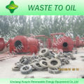 Alta taxa de saída de óleo e boa planta do equipamento da pirólise do pneu dos condensadores na maquinaria com CE e ISO