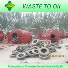 Vitesse élevée de production d'huile et usine de matériel de pyrolyse de pneus de bons condensateurs dans des machines avec le CE et l'OIN