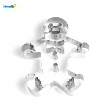 Metallo Gingerbread Man Cookie Cutter di Natale
