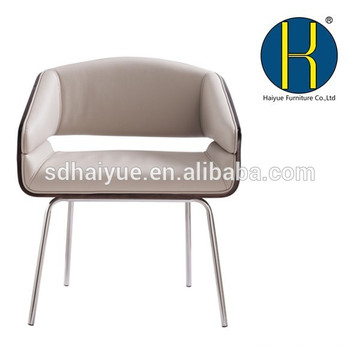 HY3010 Popular wholesale plywood hotel chair living room chairs with four strong legs