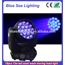 16ch 19pcs RGBW with zoom cheap moving head led wash