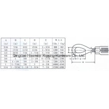 Us Type Forged Turnbuckle, Eye, Drawing, Dimensions Data