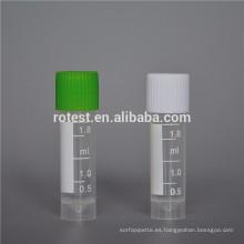 Mejor venta de laboratorio de tubo criogénico de 1,8 ml.