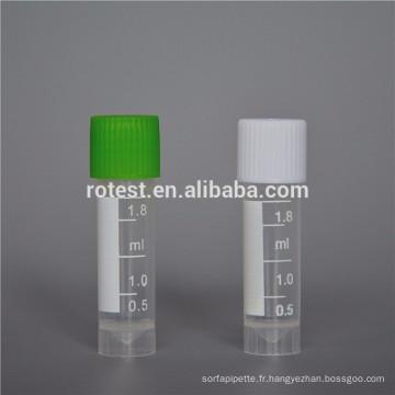 Meilleure vente de laboratoire tube cryo de 1,8 ml