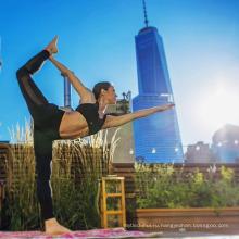 Горячая продажа фитнес дышащий леди одежда ткань леггинсы женщин мода экраном йога брюки