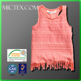wholesale o neck kids girl tank top t-shirt OEM OEKO-TEX ISO9001 SGS
